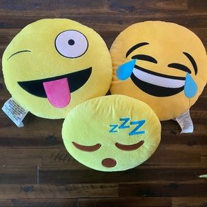 3 emoji pillows medium size kids pillows
